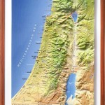 3-D Israel Topographical Relief Map
